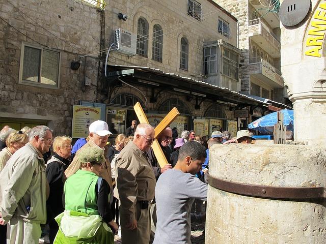 Израиль экскурсии по святым местам - крестный ход